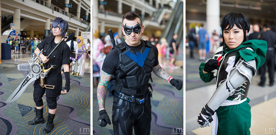 Cosplayers in Hall C, MegaCon 2016